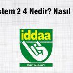 iddaa sistem 2 4 nedir?, iddaa sistem 2 4 kaç para?, iddaa sistem 2 4 nasıl hesaplanır?, iddaa sistem 2 4 nasıl oynanır?
